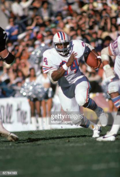 Earl Campbell of the Houston Oilers carries the ball during the 1980 AFC Wildcard Game