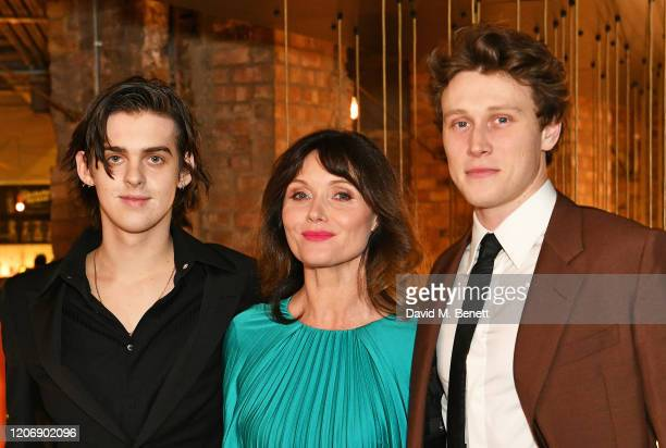 Earl Cave Essie Davis and George MacKay attend the UK Premiere of True History Of The Kelly Gang at the Picturehouse Central on February 17 2020 in...