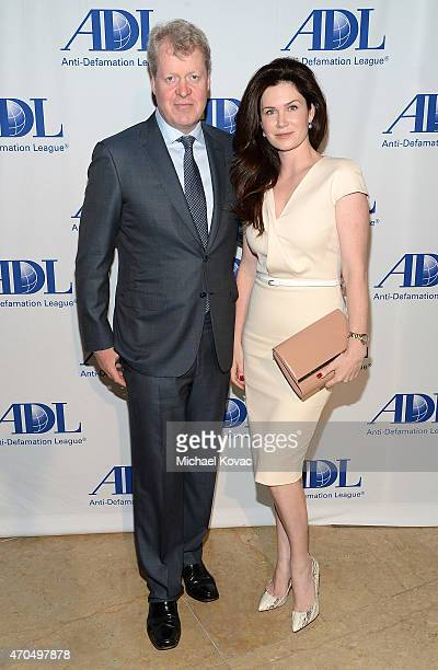 Earl Charles Spencer and Countess Karen Spencer attend the AntiDefamation League's 2015 Entertainment Industry Dinner at The Beverly Hilton Hotel on...