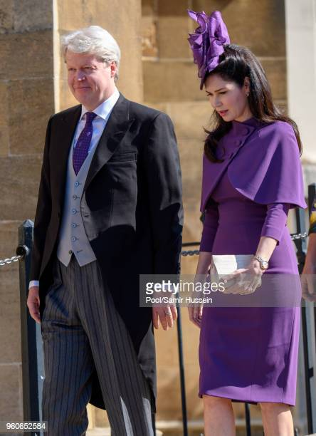 Earl Charles Spencer and Countess Karen Spencer attend the wedding of Prince Harry to Ms Meghan Markle at St George's Chapel Windsor Castle on May 19...