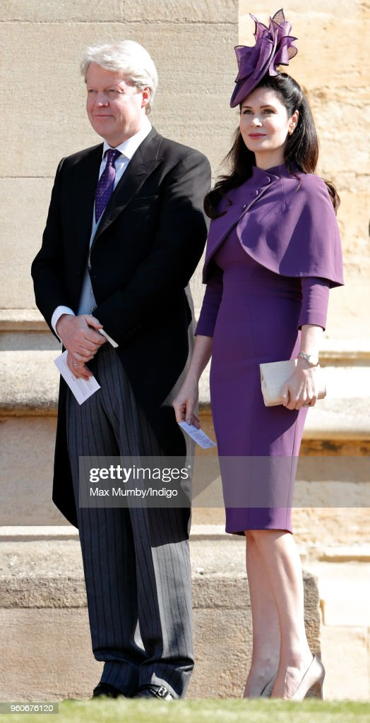 Earl Charles Spencer and Countess Karen Spencer attend the wedding of Prince Harry to Ms Meghan Markle at St George's Chapel, Windsor Castle on May 19, 2018 in Windsor, England. Prince Henry Charles Albert David of Wales marries Ms. Meghan Markle in a service at St George's Chapel inside the grounds of Windsor Castle. Among the guests were 2200 members of the public, the royal family and Ms. Markle's Mother Doria Ragland.