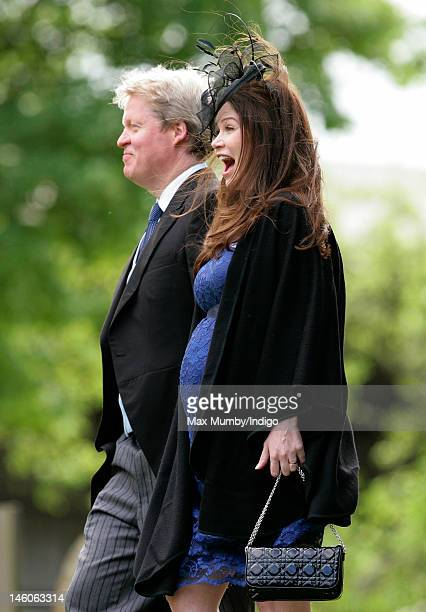 Earl Charles Spencer And His Heavily Pregnant Wife Karen Attend The Wedding Of Emily Mccorquodale