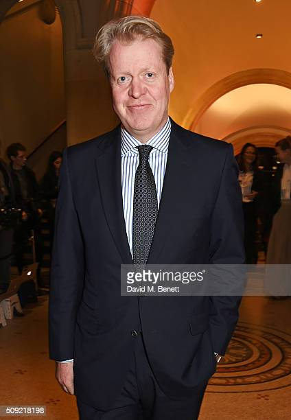 Earl Charles Spencer attends a private view of Vogue 100 A Century of Style hosted by Alexandra Shulman and Leon Max at the National Portrait Gallery...