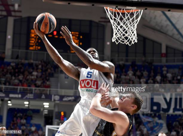 Earl Clark #5 of Buducnost Voli Podgorica competes with in action during the 2018/2019 Turkish Airlines EuroLeague Regular Season Round 1 game...