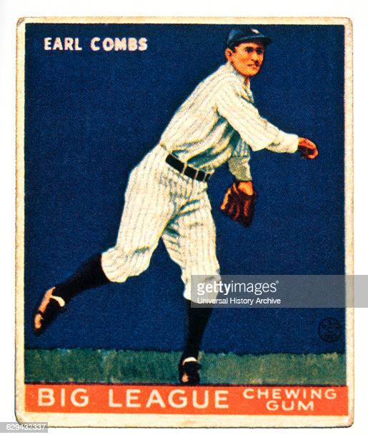 Earl Combs New York Yankees Trade Card