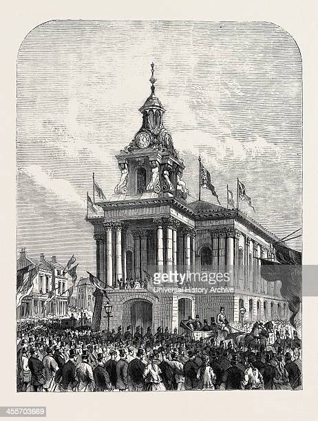 Earl De Grey And Ripon Going From The Townhall At Burslem To Open The Wedgwood Institute 1869
