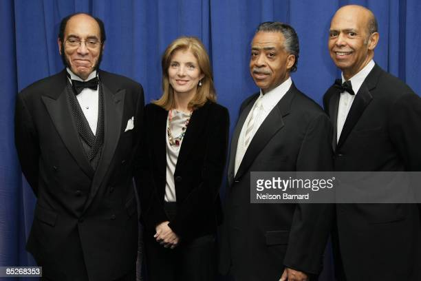 Earl G Graves Sr Author and Attorney Caroline Kennedy and President Rev Al Sharpton and CEO UNCF Michael L Lomax attend the United Negro College Fund...