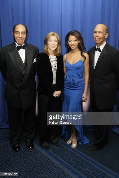 Earl G Graves Sr Author and Attorney Caroline Kennedy and President actress Denise Vasi and CEO UNCF Michael L Lomax attend the United Negro College...