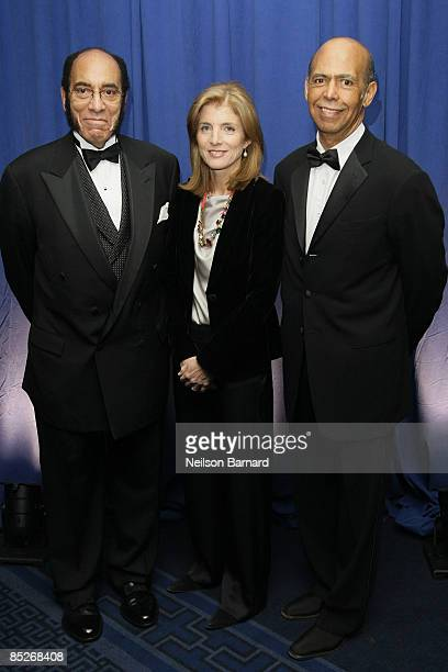 Earl G Graves Sr Author and Attorney Caroline Kennedy and President and CEO UNCF Michael L Lomax attend the United Negro College Fund 65th...