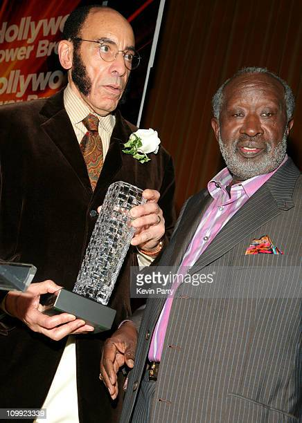 Earl Graves and Clarence Avant during Black Enterprise Top 50 Hollywood Power Brokers List Party Inside at Beverly Wilshire Four Seasons in Beverly...
