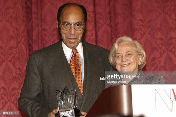 Earl Graves and Mickie Seibert during New York Women's Agenda 2003 12th Annual Star Breakfast at New York Hilton Hotel in New York City New York...