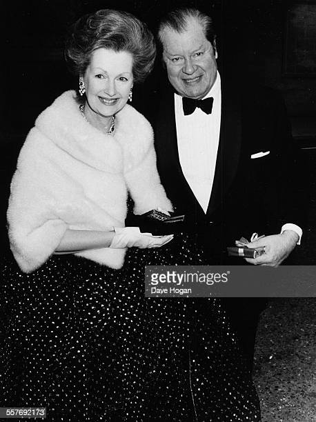 Earl John Spencer and his wife Raine Spencer attending the 21st birthday party of their son Charles Spencer in London May 21st 1985