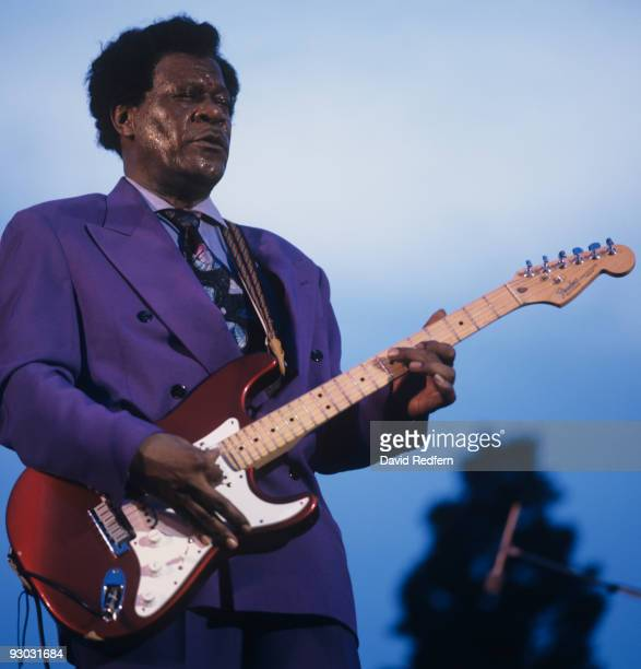 Earl King performs on stage at the Nice Jazz Festival held in Nice France in July 1994