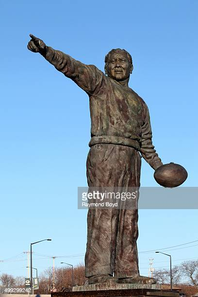 Earl L Lambeau statue sits in Harlan Plaza at Lambeau Field home of the Green Bay Packers football team on November 20 2015 in Green Bay Wisconsin
