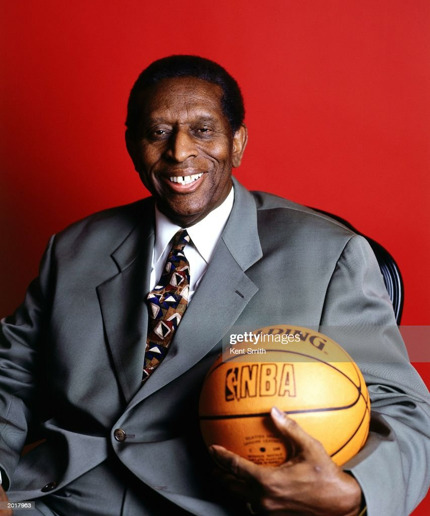 Earl Lloyd poses for a portrait at his home on January 1, 2000 in Charlotte, North Carolina. In 1950, as a member of the Washington Capitols, Lloyd became the first African-American to play in an NBA game when he entered a game against the Rochester Royals.