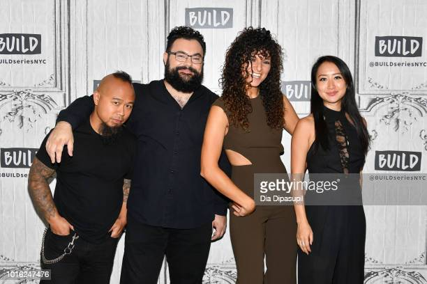 Earl Maneein Derek Stein Lauren Baba and Amanda Lo of Vitamin String Quartet visit the Build Series to discuss 'VSQ Performs The Hits of 2018' at...