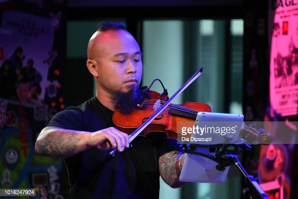 Earl Maneein of Vitamin String Quartet performs onstage during the Build Series at Build Studio on August 13 2018 in New York City