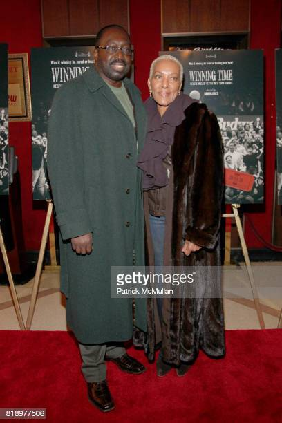 Earl Monroe and Marita Green attend Premiere of Winning Time Reggie Miller vs The New York Knicks at The Ziegfeld Theater on March 2 2010 in New York...