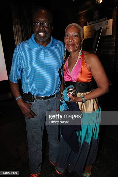Earl Monroe and Marita Green attend the NY Giants Justin Tuck 4th Annual celebrity billiards tournament at Slate NYC on May 31 2012 in New York City