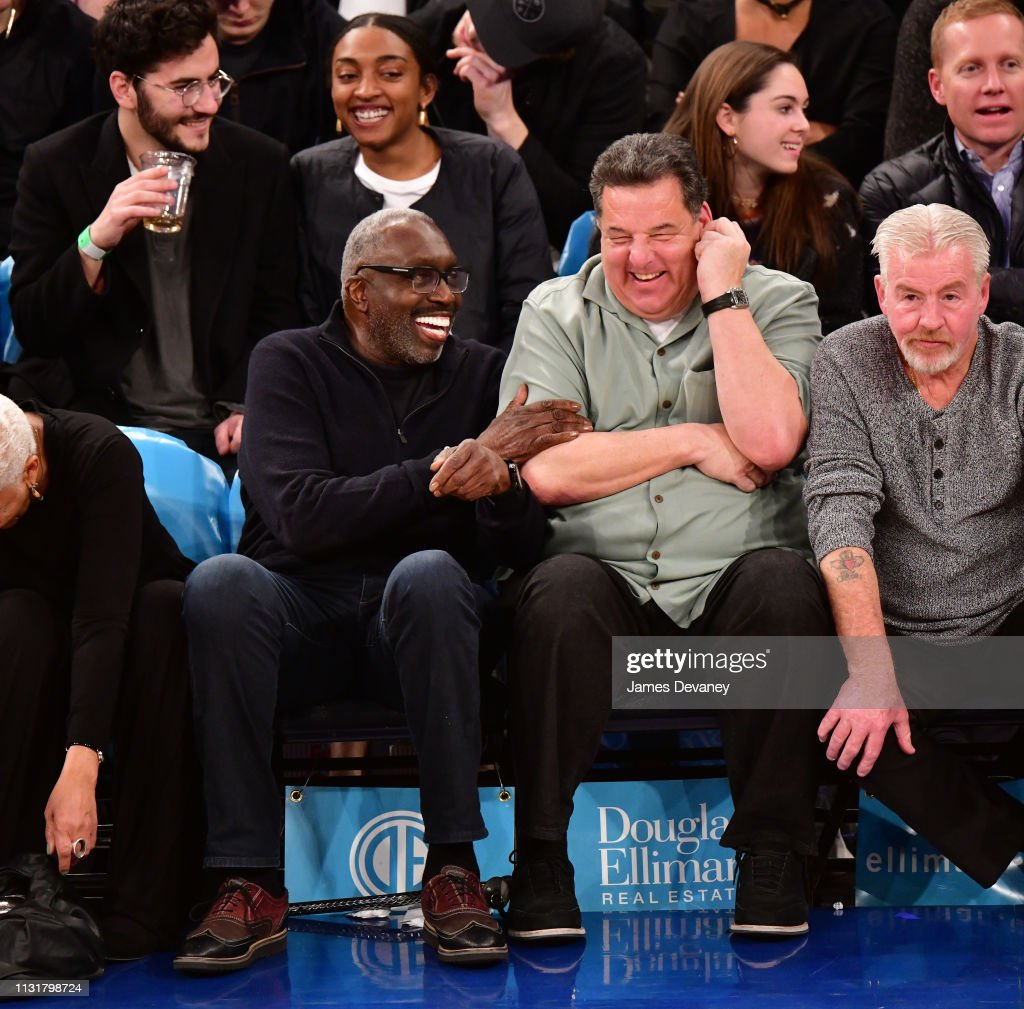 NY: Celebrities Attend Utah Jazz v New York Knicks
