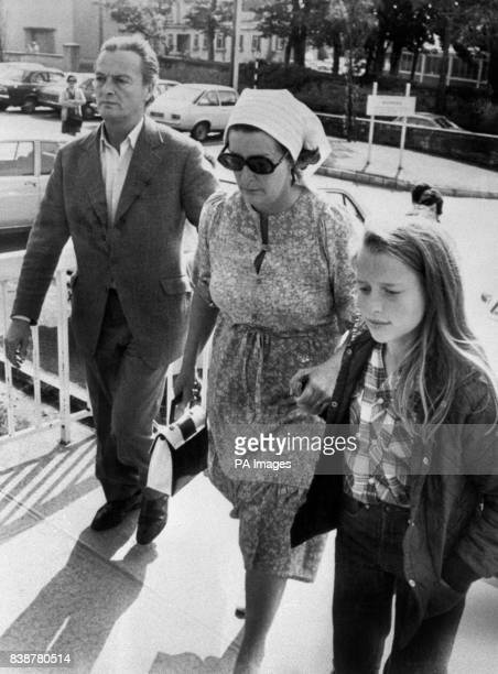 Earl Mountbatten's daughter Lady Pamela Hicks her husband David Hicks and their daughter India Hicks arriving at Sligo Hospital to visit Lady...