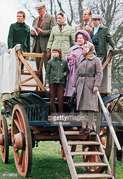 Earl Of Snowdon Princess Margaret Lady Sarah Armstrongjones The Queen Queen Mother Prince Andrew And Prince Philip At The Badminton Horse Trials