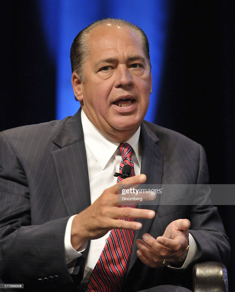 Earl Ray Tomblin, governor of West Virginia, speaks at the Wal-Mart Manufacturing Summit in Orlando, Florida, U.S., on Thursday, Aug. 22, 2013. Wal-Mart Stores Inc.s U.S. chief Bill Simon urged companies to create domestic manufacturing jobs, saying the effort is good for businesses as it cuts costs by having goods produced closer to where they are consumed. Photographer: Jim Stem/Bloomberg via Getty Images