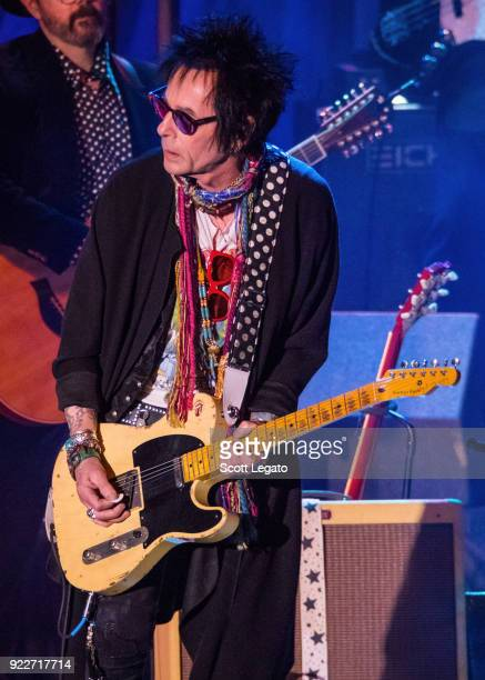 Earl Slick performs during the Celebrating David Bowie concert at The Royal Oak Music Theater on February 19 2018 in Royal Oak Michigan