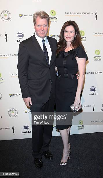 Earl Spencer and Karen Gordon attend the gala dinner for Ubuntu Education Fund at Battersea Power station on May 4 2011 in London England