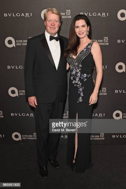 Earl Spencer and Karen Spencer attends the Argento Ball for the Elton John AIDS Foundation in association with BVLGARI Bob and Tamar Manoukian on...