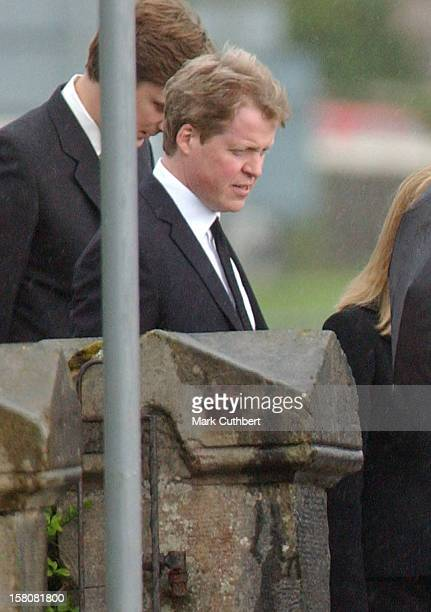 Earl Spencer Attends The Funeral Of Frances Shand Kydd At St Columba'S Cathedral In Oban Scotland
