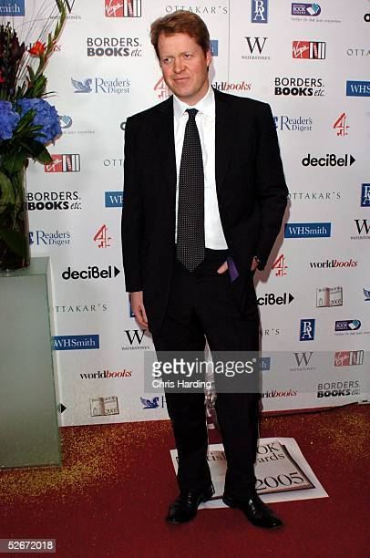 Earl Spencer brother of Lady Diana arrives at the annual British Book Awards known as the Nibbies at Grosvenor House Park Lane April 20 2005 in...