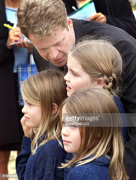 Earl Spencer brother of Lady Diana Princess of Wales attends the official opening of the memorial playground in London's Kensington Gardens 30 June...