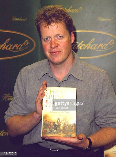 Earl Spencer during Earl Spencer Signs Copies of His New Book Blenheim Battle For Europe at Hatchards in London Great Britain