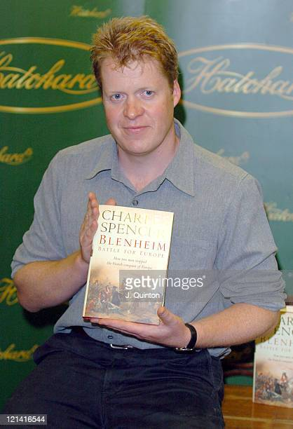Earl Spencer during Earl Spencer Signs Copies of his New Book Blenheim Battle For Europe at Hatchards Picadilly in London Great Britain