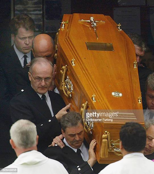 Earl Spencer follows the coffin of his mother Frances Shand Kydd at the Cathedral of Saint Columba on June 10 2004 in Oban Argyll Bute Scotland Mrs...