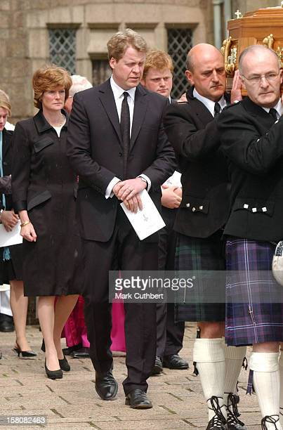 Earl Spencer Lady Sarah Mccorquodale Attend The Funeral Of Frances Shand Kydd At St Columba'S Cathedral In Oban Scotland