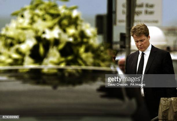 Earl Spencer leaves St Columba's Cathedral in Oban Argyll Scotland The brother of Diana Princess of Wales sought today to play down suggestions of a...