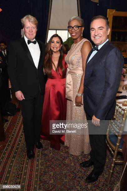Earl Spencer Maria Bravo Tessy Ojo and Nick Ede attend the Global Gift Gala for The Diana Award hosted by Earl Spencer at Althorp House on June 14...