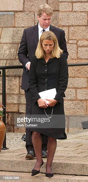 Earl Spencer Wife Caroline Attend The Funeral Of Frances Shand Kydd At St Columba'S Cathedral In Oban Scotland