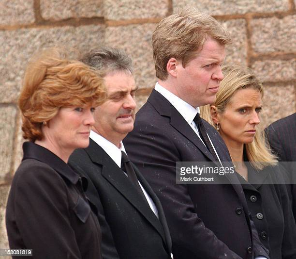 Earl Spencer Wife Caroline Lady Sarah Mccorquodale Attend The Funeral Of Frances Shand Kydd At St Columba'S Cathedral In Oban Scotland