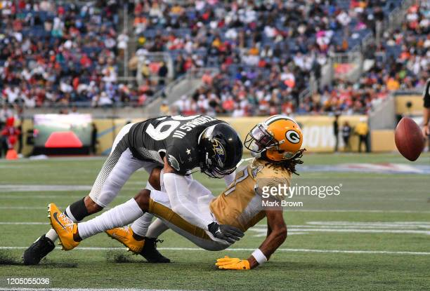 Earl Thomas of the Baltimore Ravens in action during the 2020 NFL Pro Bowl at Camping World Stadium on January 26 2020 in Orlando Florida