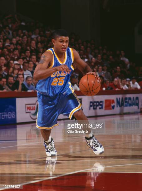 Earl Watson Guard for the University of California Los Angeles UCLA Bruins during the NCAA Pac10 Conference college basketball game the against...
