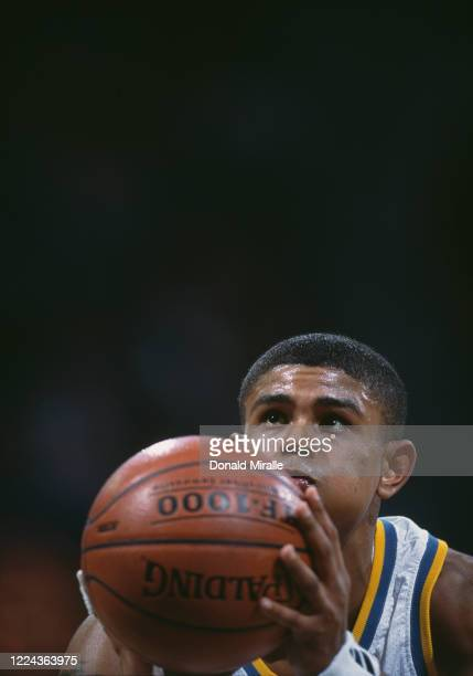 Earl Watson, Guard for the University of California, Los Angeles UCLA Bruins prepares to shoot a free throw during the NCAA Pac-10 Conference college...