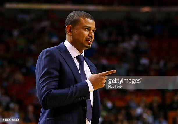 Earl Watson of the Phoenix Suns during the game against the Miami Heat at the American Airlines Arena on March 3 2016 in Miami Florida NOTE TO USER...