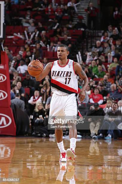 Earl Watson of the Portland Trail Blazers moves the ball upcourt against the Utah Jazz on December 6 2013 at the Moda Center Arena in Portland Oregon...