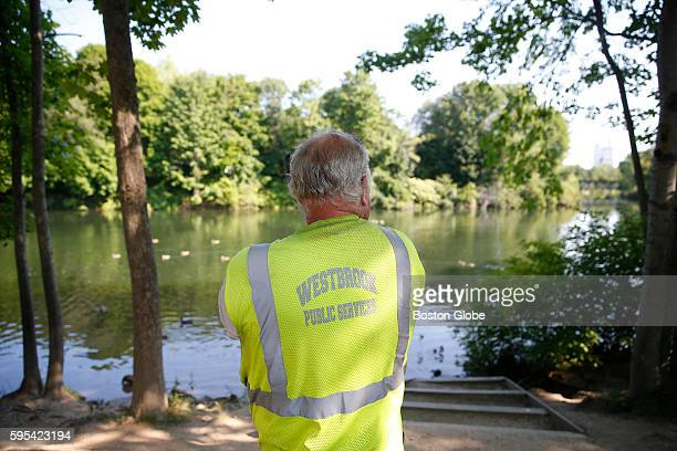 Earl White a Westbrook city employee stands by the Presumpscot River in Westbrook Maine Aug 24 2016 The mystery of Wessie the snake believed to be...
