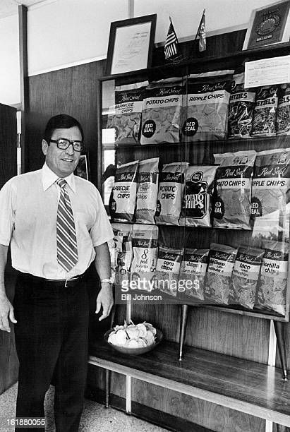 APR 1978 APR 2 1978 APR 26 1978 Earl Wilson owner and president of Red Seal stands beside display of some of the company's products Wilson's father...