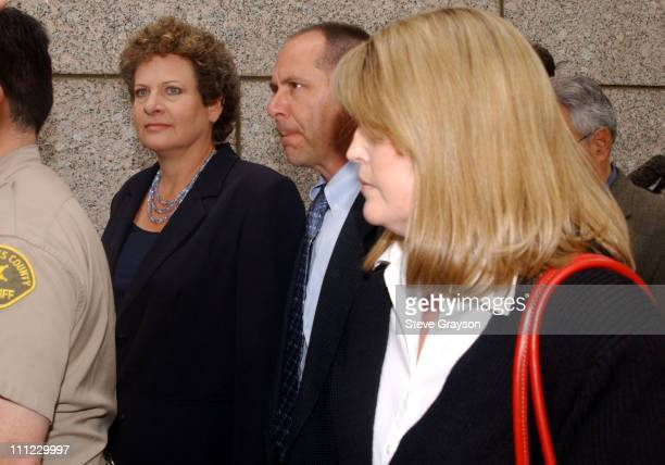 Earle Caldwell bodyguard for actor Robert Blake arrives for a bail hearing for the actor in a Los Angeles Superior Court Wednesday May 1 2002...