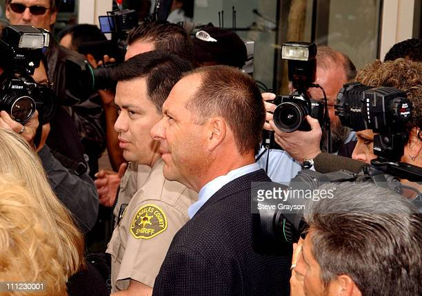 Earle Caldwell bodyguard for actor Robert Blake arrives for a bail hearing for the actor in Los Angeles Superior Court Wednesday May 1 2002 Caldwell...